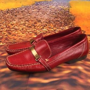 Polo Ralph Lauren Red Leather loafers 👞 size 9 B